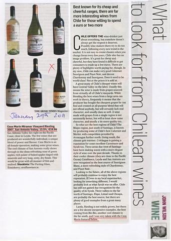 110129 Irish Times Mag Casa Marin