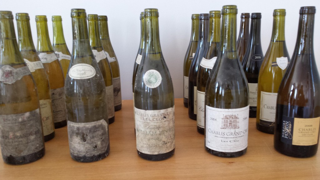 The aged Grand Cru Chablis