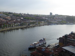 Port houses over the Douro River