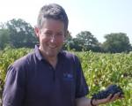 Simon in the vineyard 2012