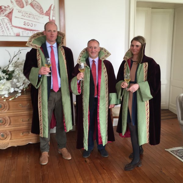 Newly robed members...