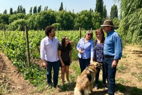 Yves Pouzet and his family at Viña Tipaume.