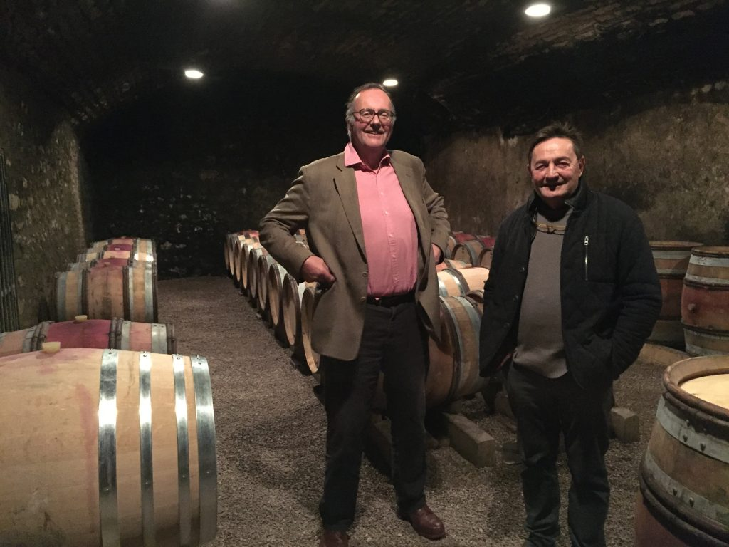 Anthony with Dominique Lafon shortly after the 2015 harvest