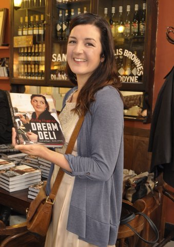 Lilly at the launch of her new book Dream Deli