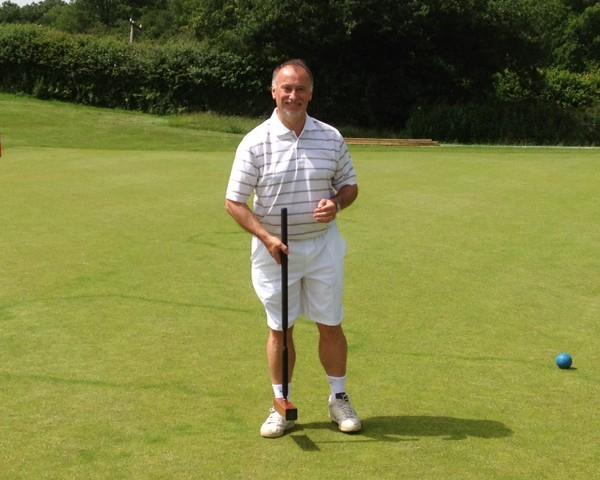 Nigel on the croquet field